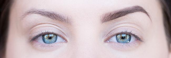 ögonbryn tutorial molkan skönhetsblogg