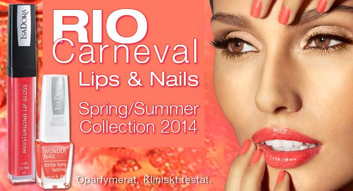 isadora summer spring rio carneval lips nails molkan skönhetsblogg