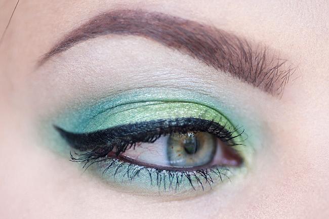 molkan skönhetsblogg makeup green motd makeup of the day