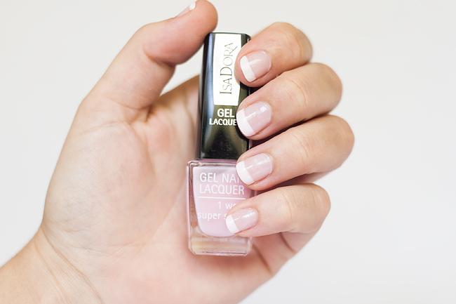 isadora gel nail lacquer french manicure fransk manikyr molkan skönhetsblogg