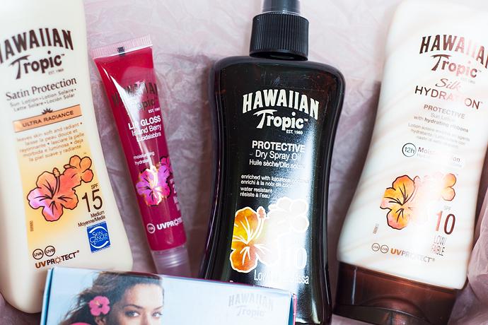 Skönhetsblogg molkan Hawaiian Tropic solskydd sun screen