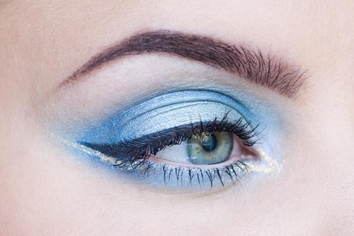 motd molkan skönhetsblogg mermaid blue makeup