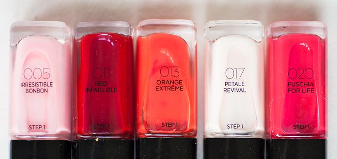 molkan skönhetsblogg l'oréal paris autumn fall news höst nyheter 2014 infallible nail polish