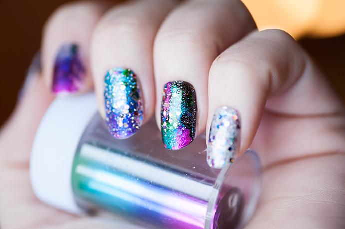 new years nails 2014 notd nail foil glitter viva la diva ebay maybelline essie