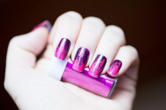 notd pink purple ombre nails nail foil nagelfolie lila rosa naglar