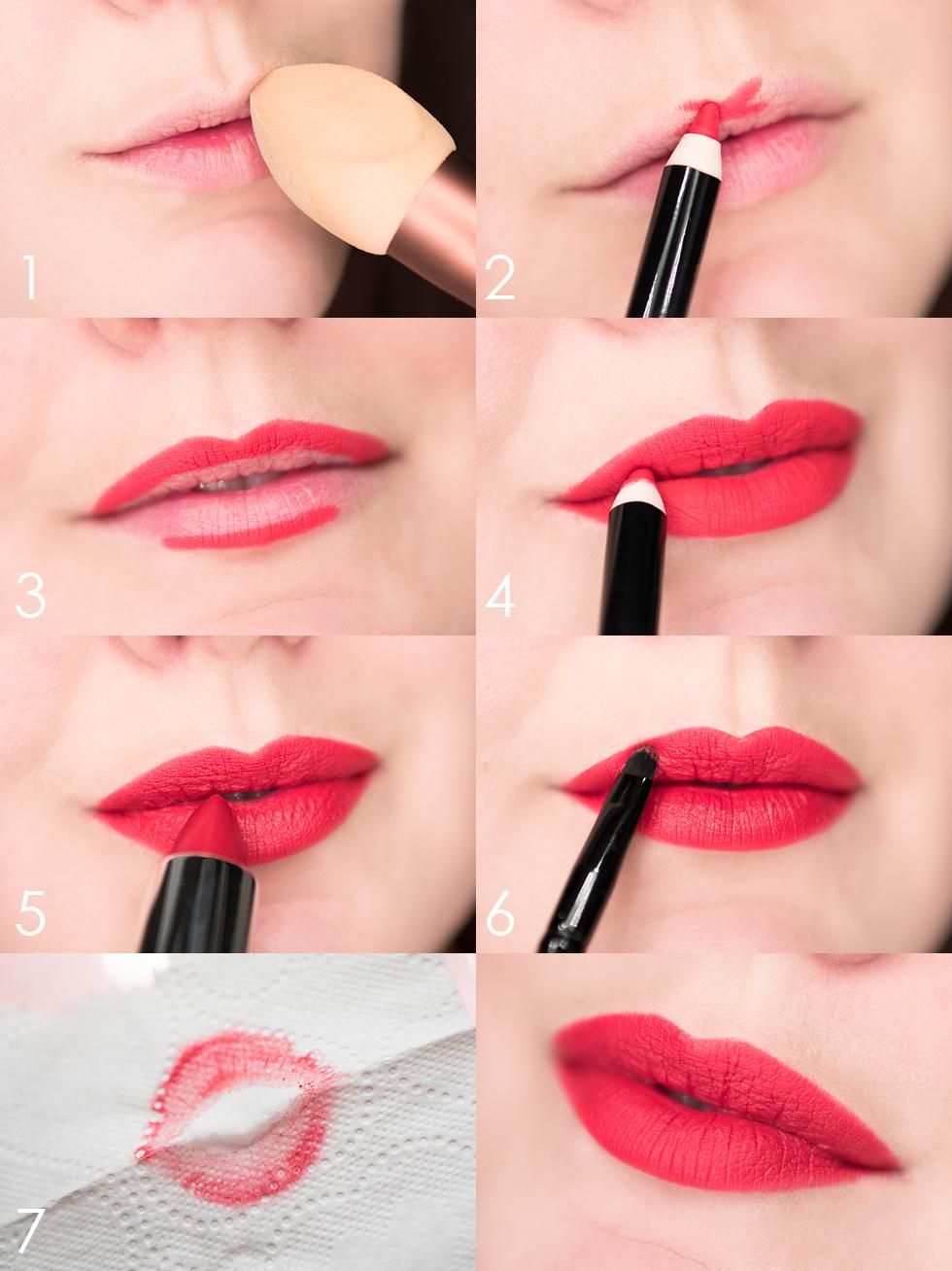 perfect red lips perfekta röda läppar