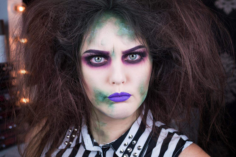makeup sminkning motd beetlejuice