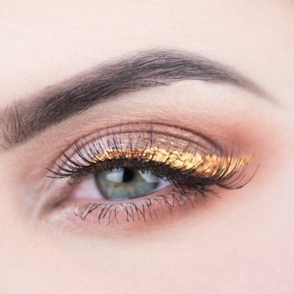 motd makeup rose gold purple diamanttårar