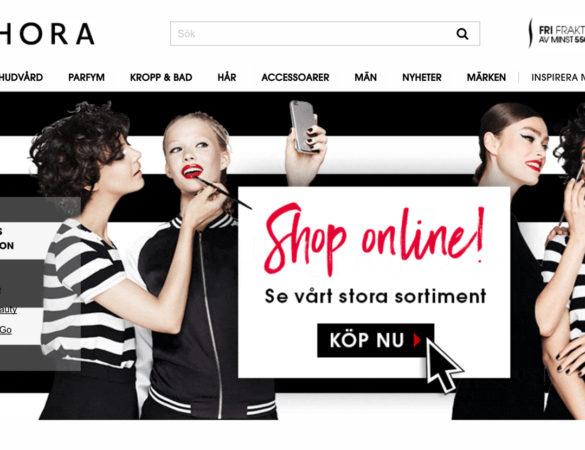 Nu kan du äntligen handla online på Sephora.se!