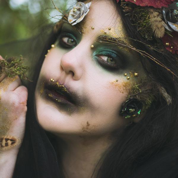 motd halloween makeup halloweensminkning lady forest creature nymph