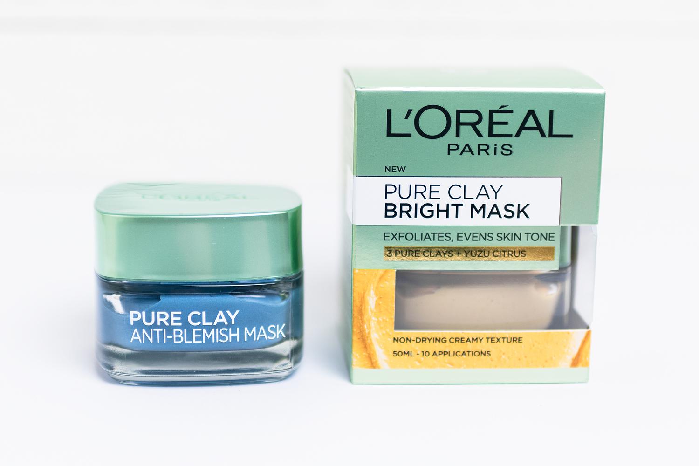 l'oréal pure clay anti-blemish bright mask
