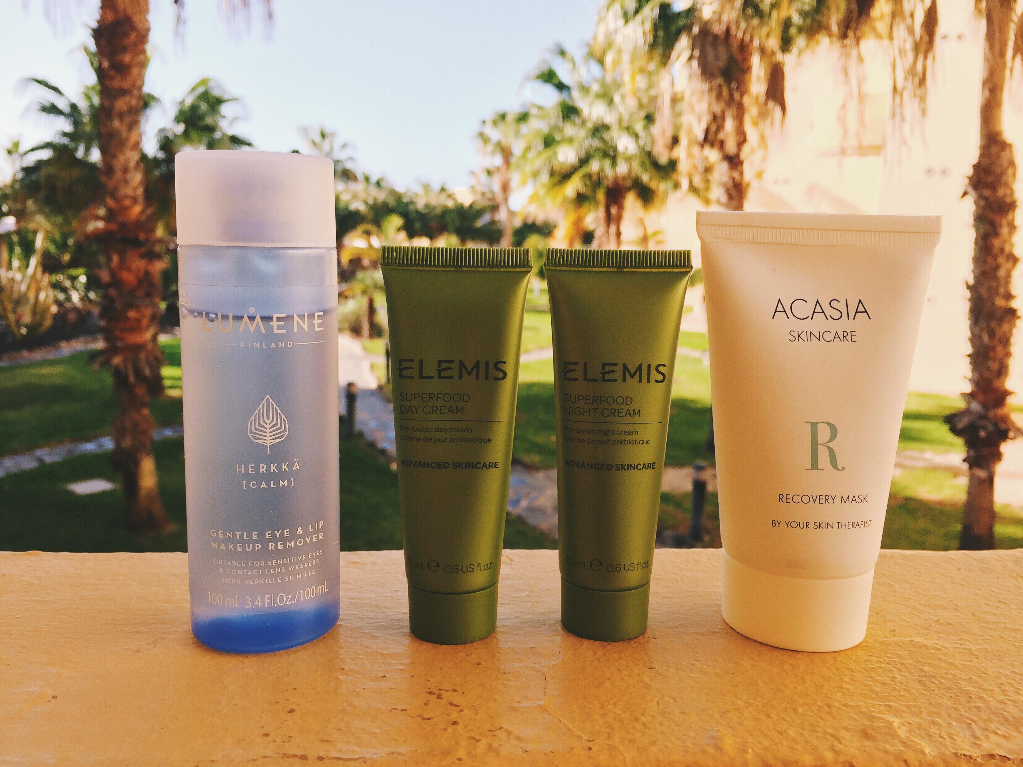 hudvård utomlands solen semester lumene elemis acasia