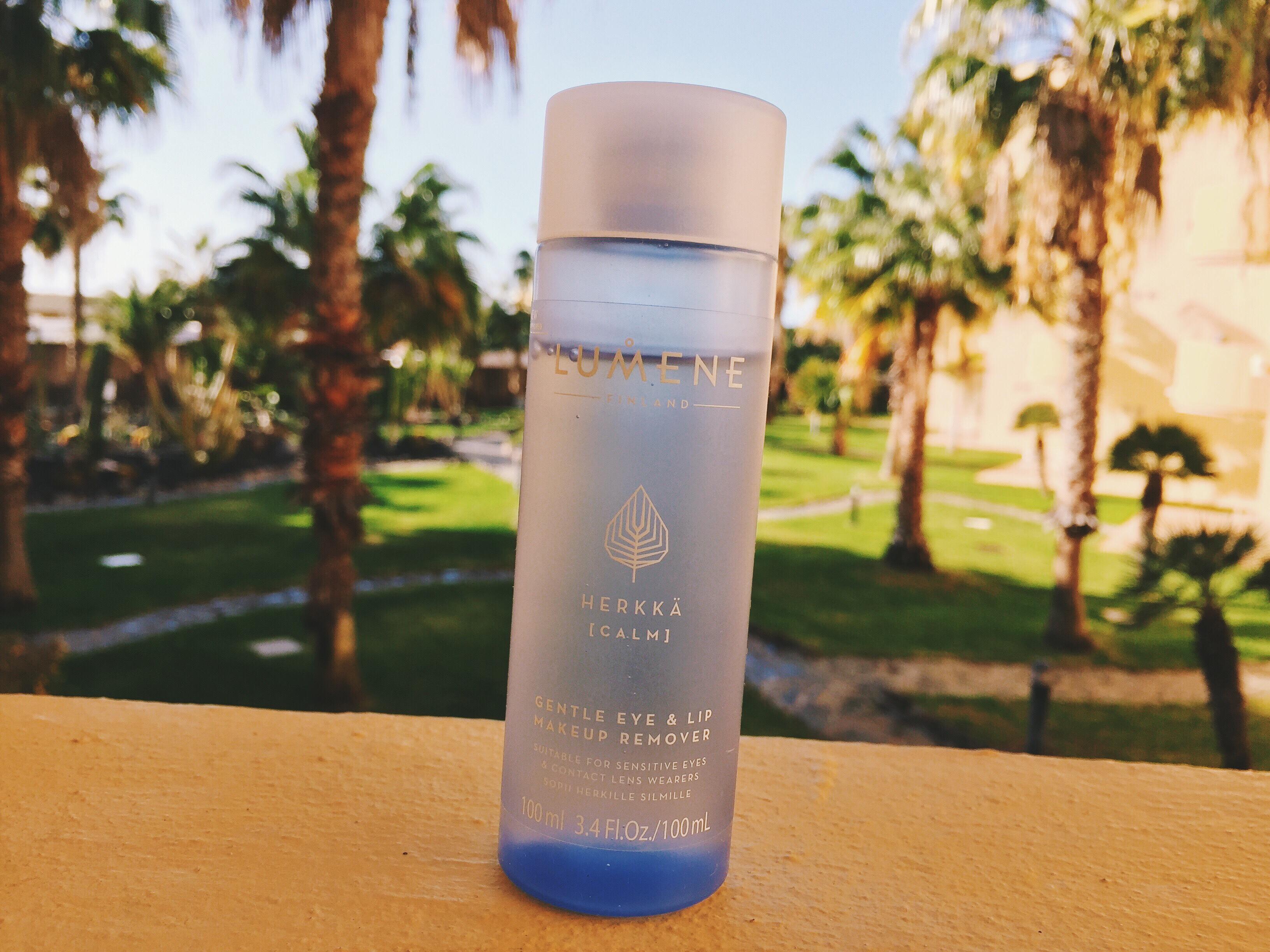 hudvård utomlands solen semester lumene herkkä genle makeup remover