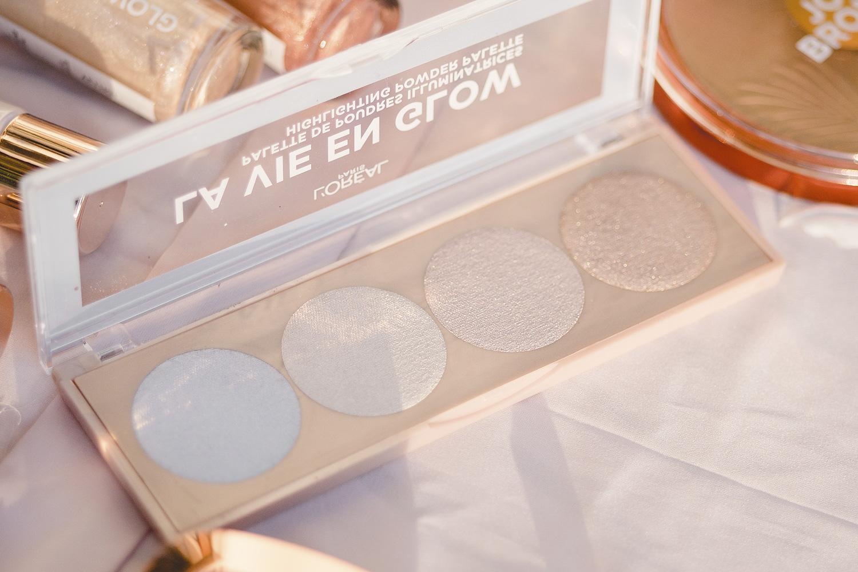 l'oréal paris glow toolbox la vie en glow highlighter palette