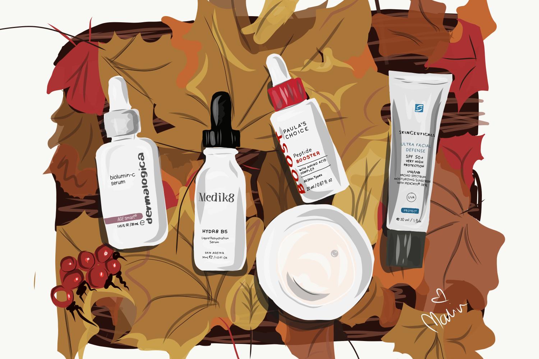 min hudvårdsrutin höst 2018 molkan.se dermalogica medik8 paula's choice skinceuticals
