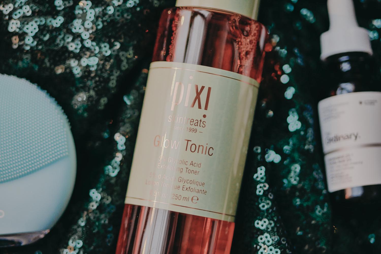 2020 hudvårdsrutin pixi glow tonic